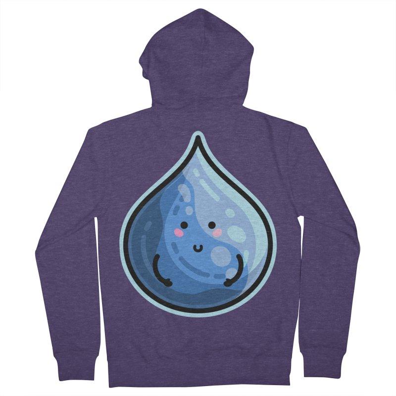Kawaii Cute Water Droplet / Tear / Rain Men's French Terry Zip-Up Hoody by Flaming Imp's Artist Shop