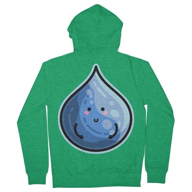 Kawaii Cute Water Droplet / Tear / Rain Men's Zip-Up Hoody by Flaming Imp's Artist Shop