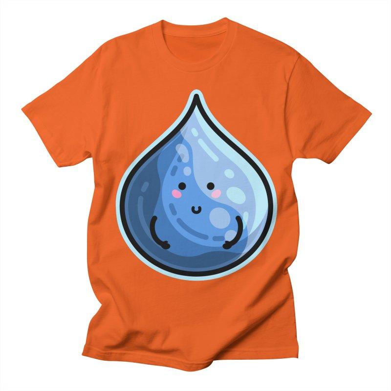 Kawaii Cute Water Droplet / Tear / Rain Men's T-Shirt by Flaming Imp's Artist Shop