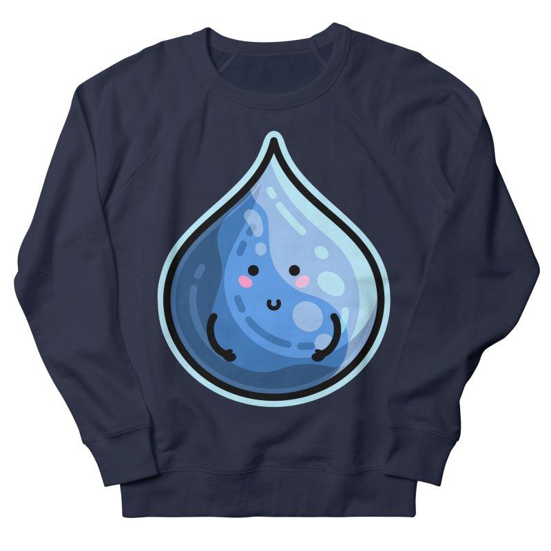 Kawaii Cute Water Droplet / Tear / Rain Women's Sweatshirt by Flaming Imp's Artist Shop