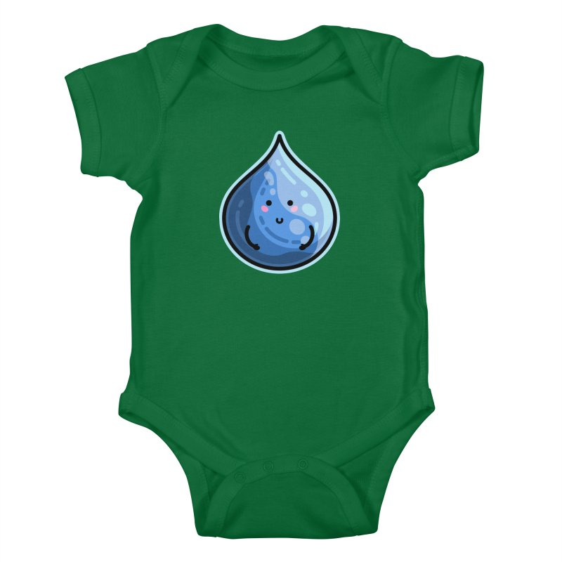 Kawaii Cute Water Droplet / Tear / Rain Kids Baby Bodysuit by Flaming Imp's Artist Shop