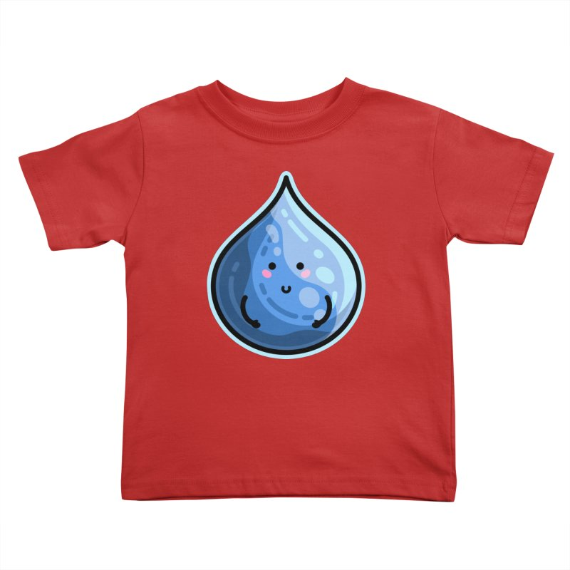 Kawaii Cute Water Droplet / Tear / Rain Kids Toddler T-Shirt by Flaming Imp's Artist Shop