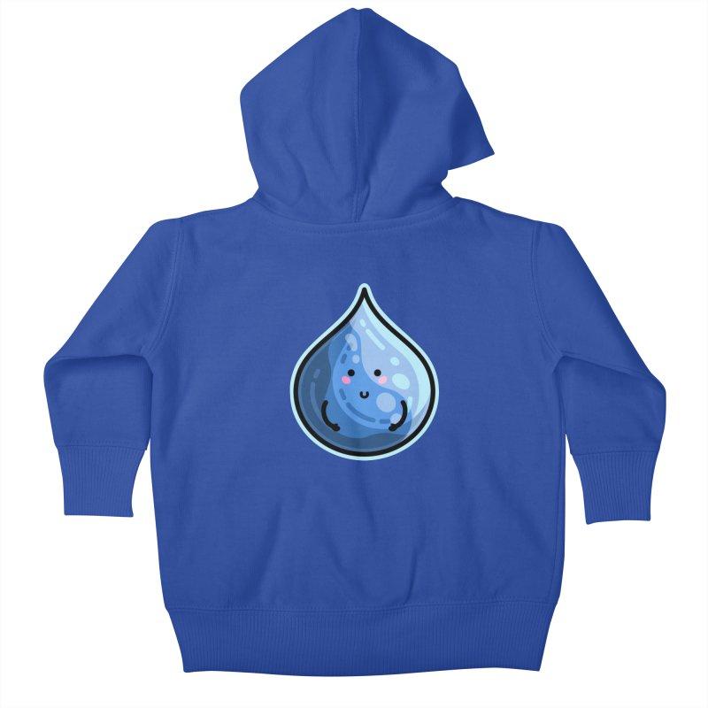 Kawaii Cute Water Droplet / Tear / Rain Kids Baby Zip-Up Hoody by Flaming Imp's Artist Shop