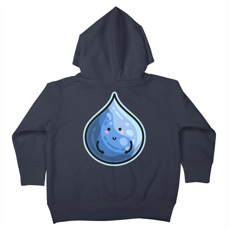 Kawaii Cute Water Droplet / Tear / Rain Kids Toddler Zip-Up Hoody by Flaming Imp's Artist Shop