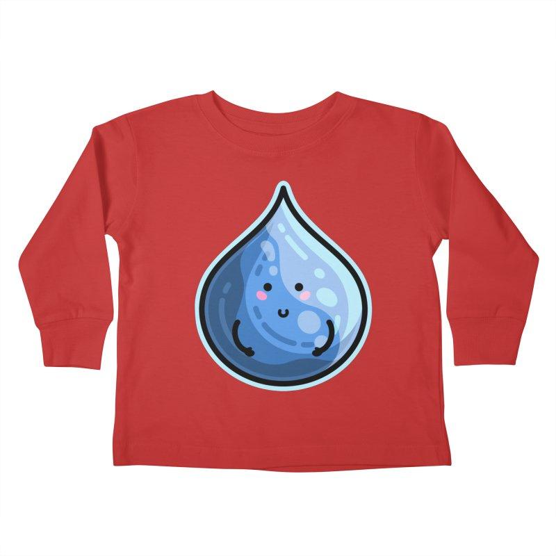 Kawaii Cute Water Droplet / Tear / Rain Kids Toddler Longsleeve T-Shirt by Flaming Imp's Artist Shop