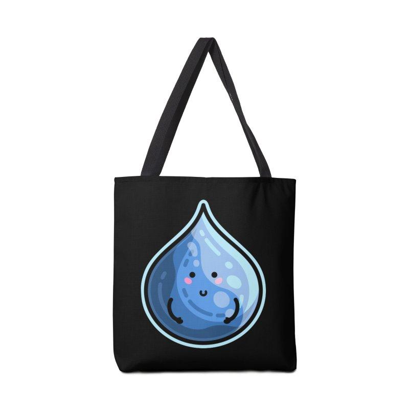Kawaii Cute Water Droplet / Tear / Rain Accessories Tote Bag Bag by Flaming Imp's Artist Shop