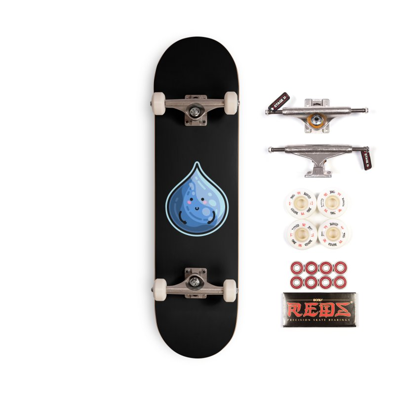 Kawaii Cute Water Droplet / Tear / Rain Accessories Complete - Pro Skateboard by Flaming Imp's Artist Shop