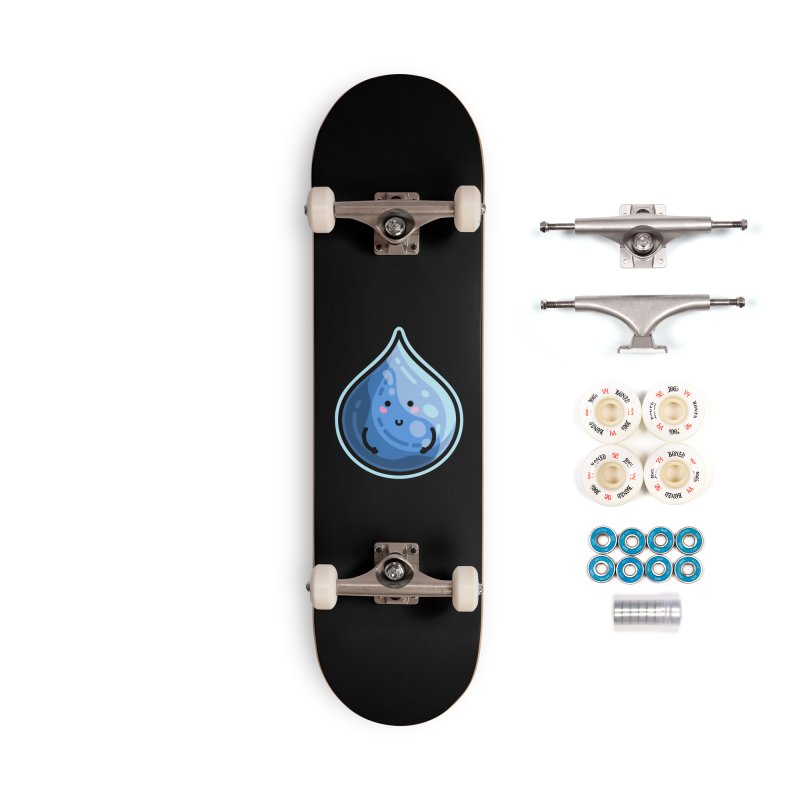 Kawaii Cute Water Droplet / Tear / Rain Accessories Complete - Premium Skateboard by Flaming Imp's Artist Shop