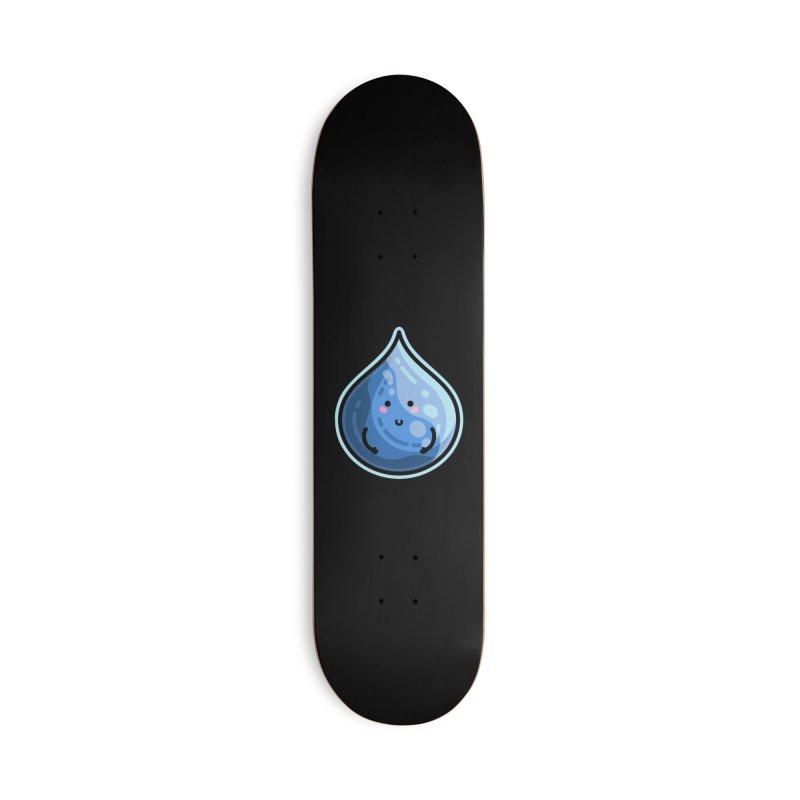 Kawaii Cute Water Droplet / Tear / Rain Accessories Deck Only Skateboard by Flaming Imp's Artist Shop