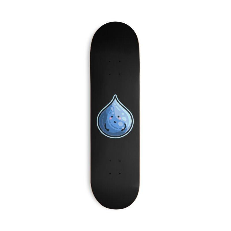 Kawaii Cute Water Droplet / Tear / Rain Masks + Accessories Skateboard by Flaming Imp's Artist Shop