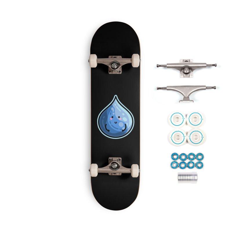Kawaii Cute Water Droplet / Tear / Rain Accessories Skateboard by Flaming Imp's Artist Shop