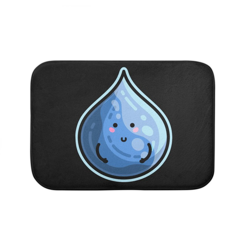 Kawaii Cute Water Droplet / Tear / Rain Home Bath Mat by Flaming Imp's Artist Shop