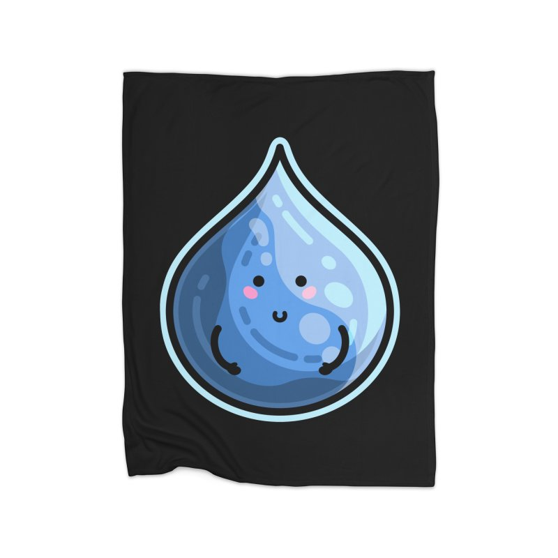 Kawaii Cute Water Droplet / Tear / Rain Home Blanket by Flaming Imp's Artist Shop