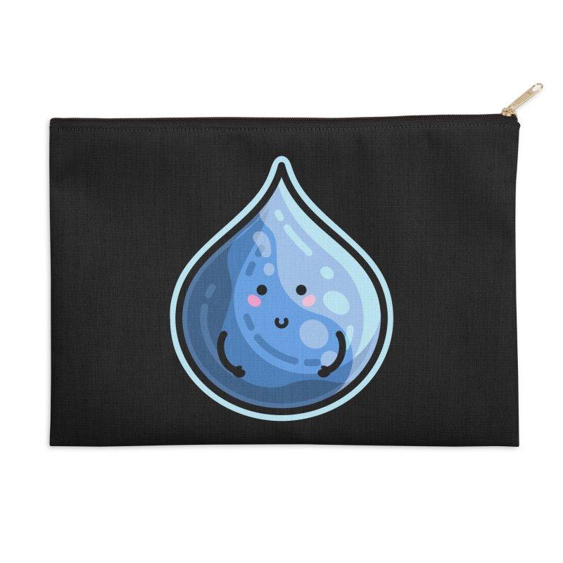 Kawaii Cute Water Droplet / Tear / Rain Accessories Zip Pouch by Flaming Imp's Artist Shop