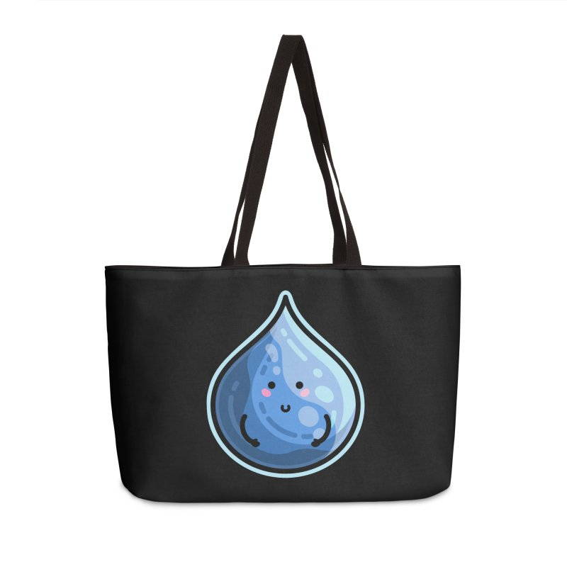 Kawaii Cute Water Droplet / Tear / Rain Accessories Weekender Bag Bag by Flaming Imp's Artist Shop