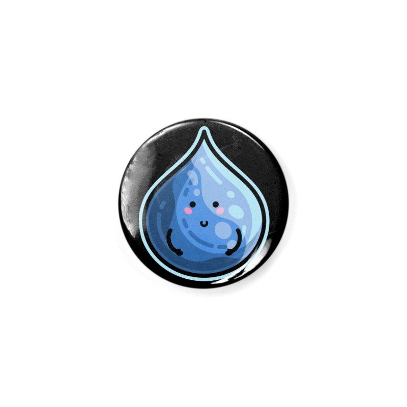 Kawaii Cute Water Droplet / Tear / Rain Accessories Button by Flaming Imp's Artist Shop