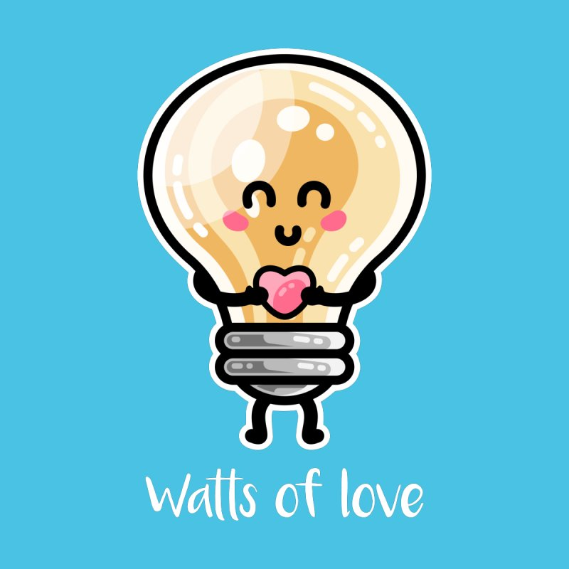 Cute Watts Of Love Pun Women's T-Shirt by Flaming Imp's Artist Shop