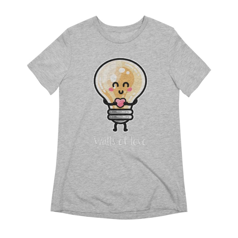 Cute Watts Of Love Pun Women's Extra Soft T-Shirt by Flaming Imp's Artist Shop