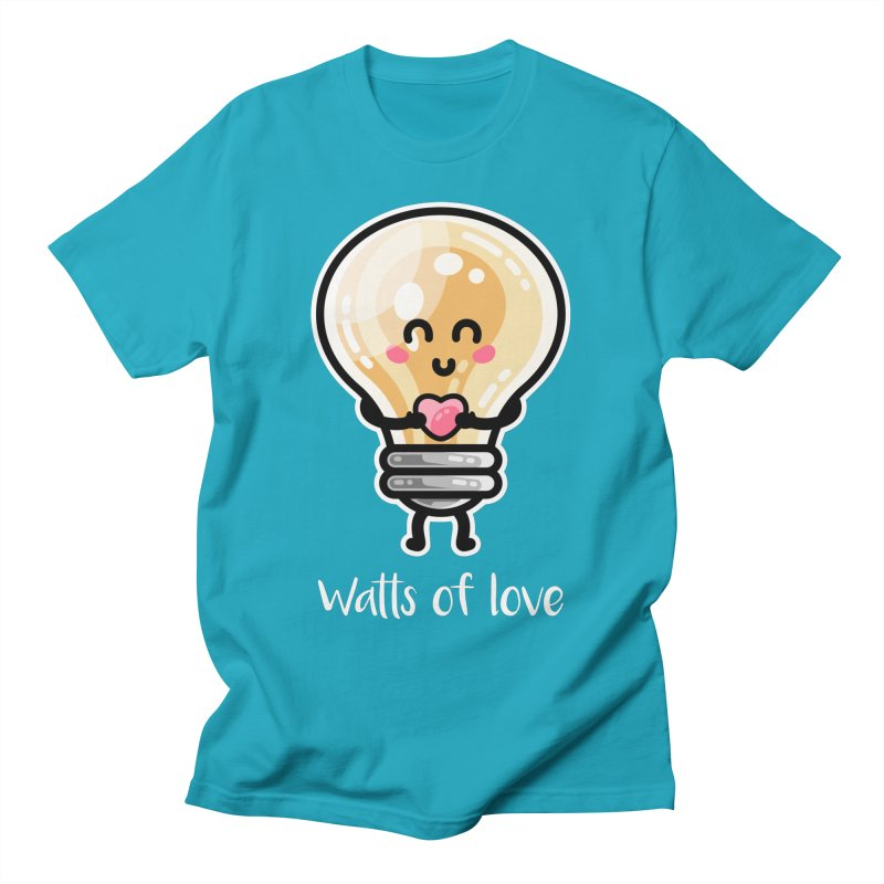 Cute Watts Of Love Pun Unisex T-Shirt by Flaming Imp's Artist Shop