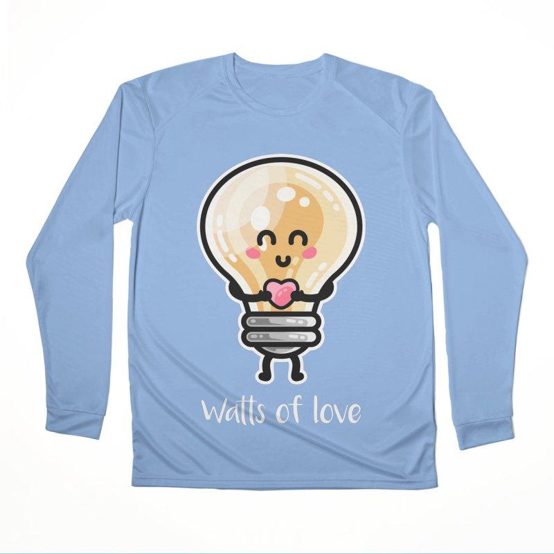 Cute Watts Of Love Pun Women's Longsleeve T-Shirt by Flaming Imp's Artist Shop