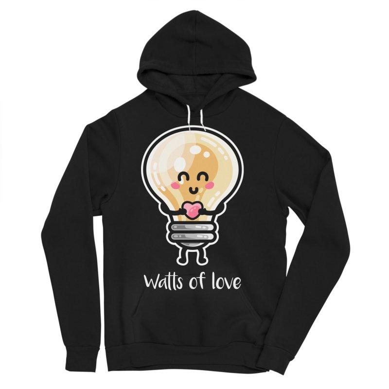 Cute Watts Of Love Pun Men's Sponge Fleece Pullover Hoody by Flaming Imp's Artist Shop