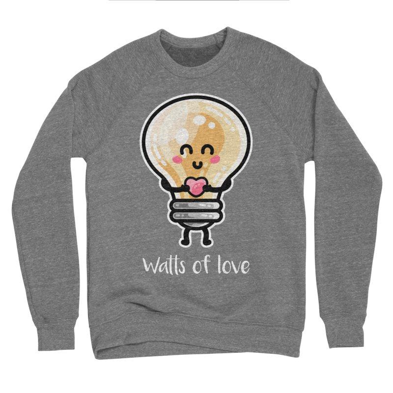 Cute Watts Of Love Pun Men's Sponge Fleece Sweatshirt by Flaming Imp's Artist Shop