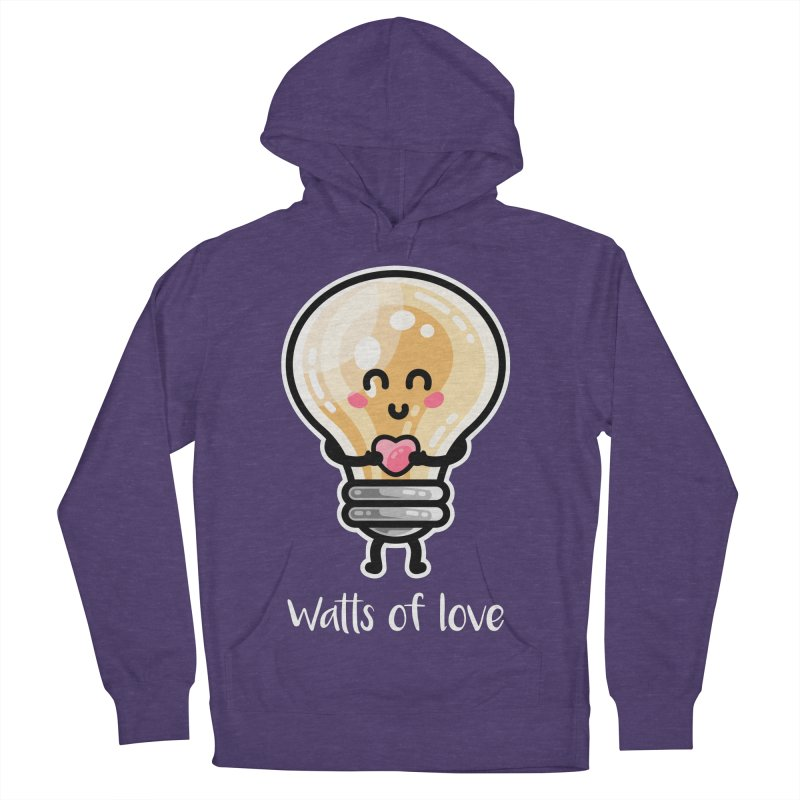 Cute Watts Of Love Pun Women's French Terry Pullover Hoody by Flaming Imp's Artist Shop