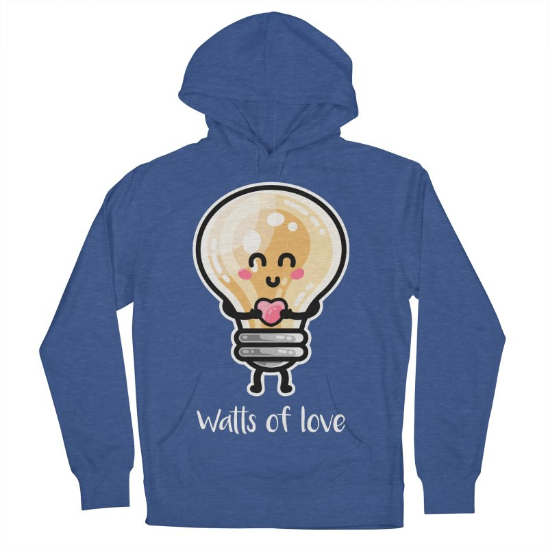 Cute Watts Of Love Pun Men's French Terry Pullover Hoody by Flaming Imp's Artist Shop