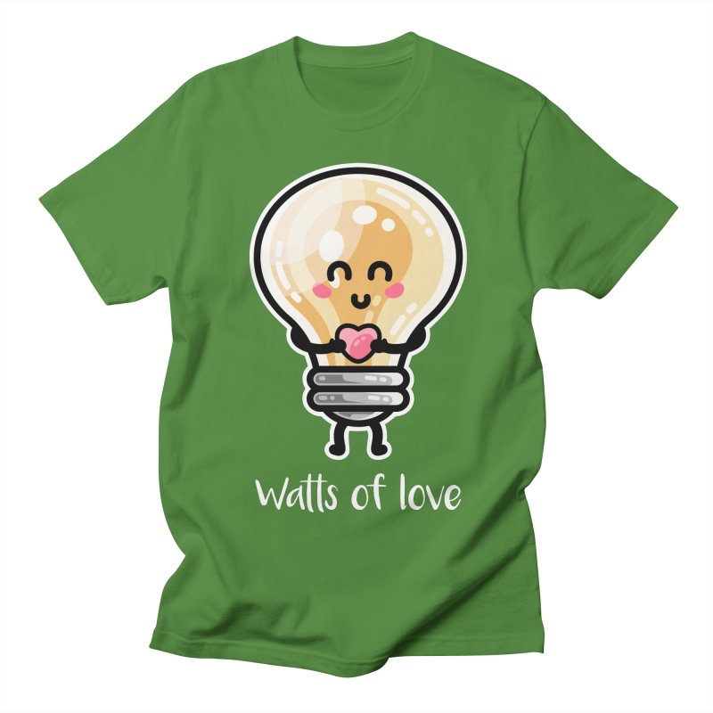 Cute Watts Of Love Pun Men's T-Shirt by Flaming Imp's Artist Shop