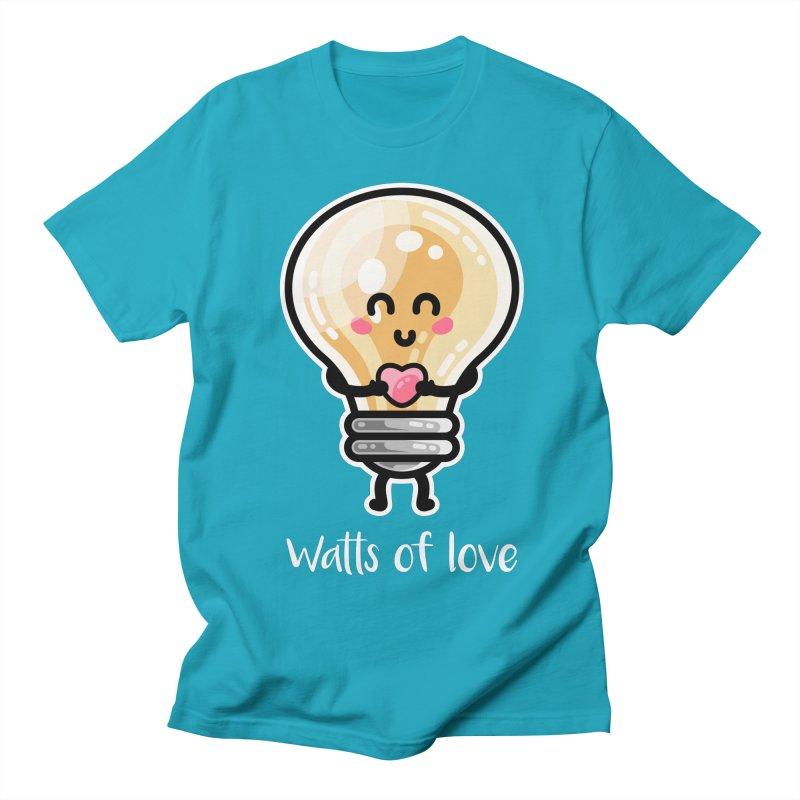 Cute Watts Of Love Pun Men's T-Shirt by Flaming Imp's Artist Shop