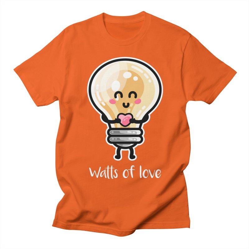 Cute Watts Of Love Pun Women's Regular Unisex T-Shirt by Flaming Imp's Artist Shop