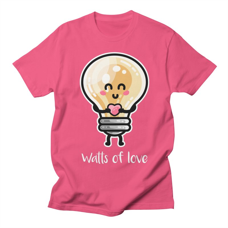 Cute Watts Of Love Pun Women's T-Shirt by Flaming Imp's Artist Shop