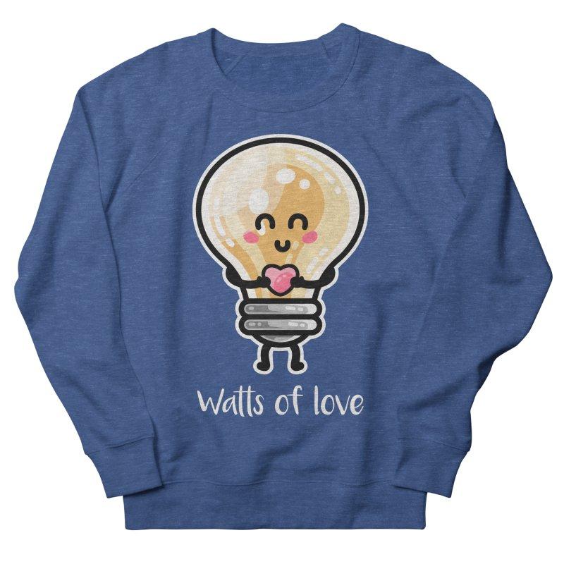 Cute Watts Of Love Pun Unisex Sweatshirt by Flaming Imp's Artist Shop