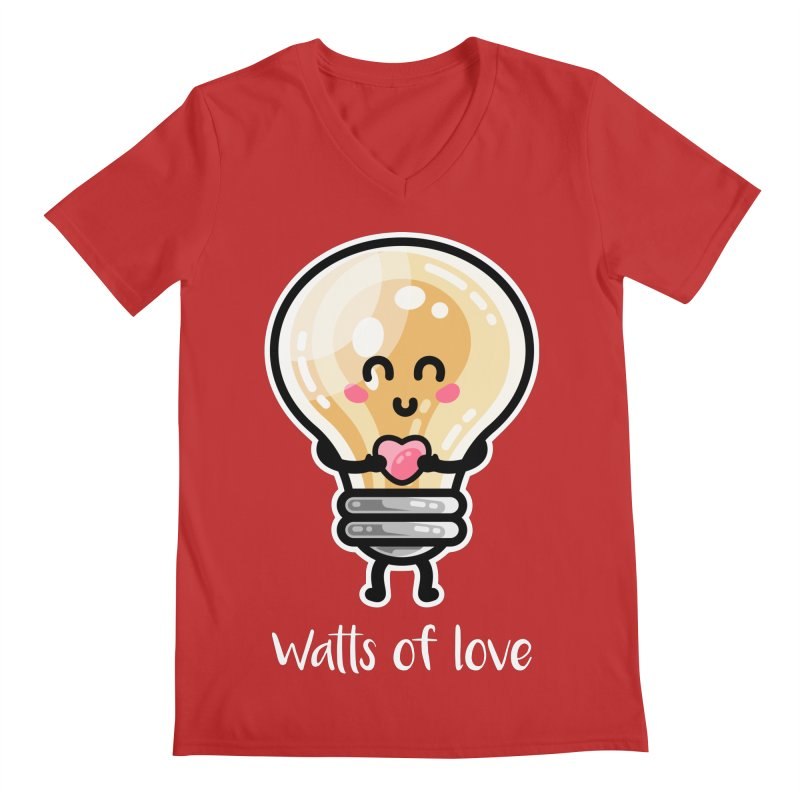 Cute Watts Of Love Pun Unisex V-Neck by Flaming Imp's Artist Shop