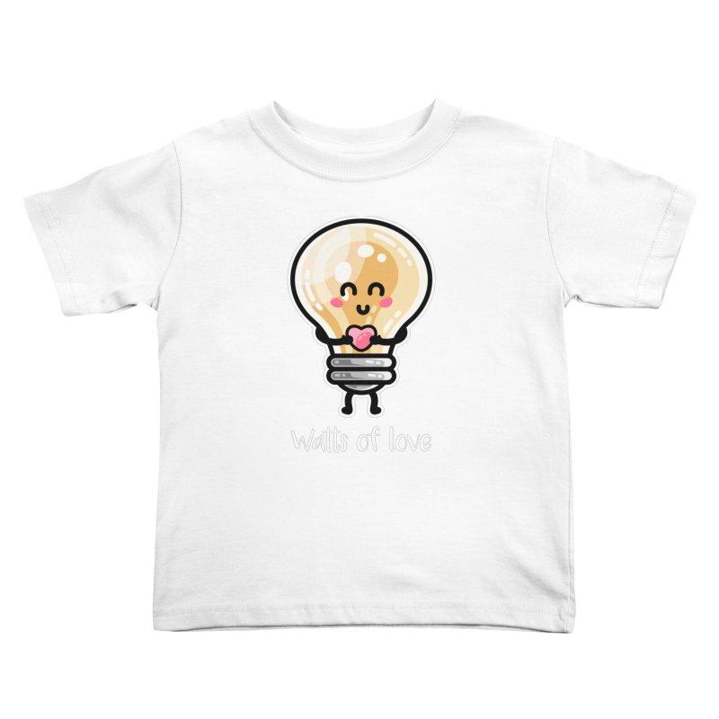 Cute Watts Of Love Pun Kids Toddler T-Shirt by Flaming Imp's Artist Shop
