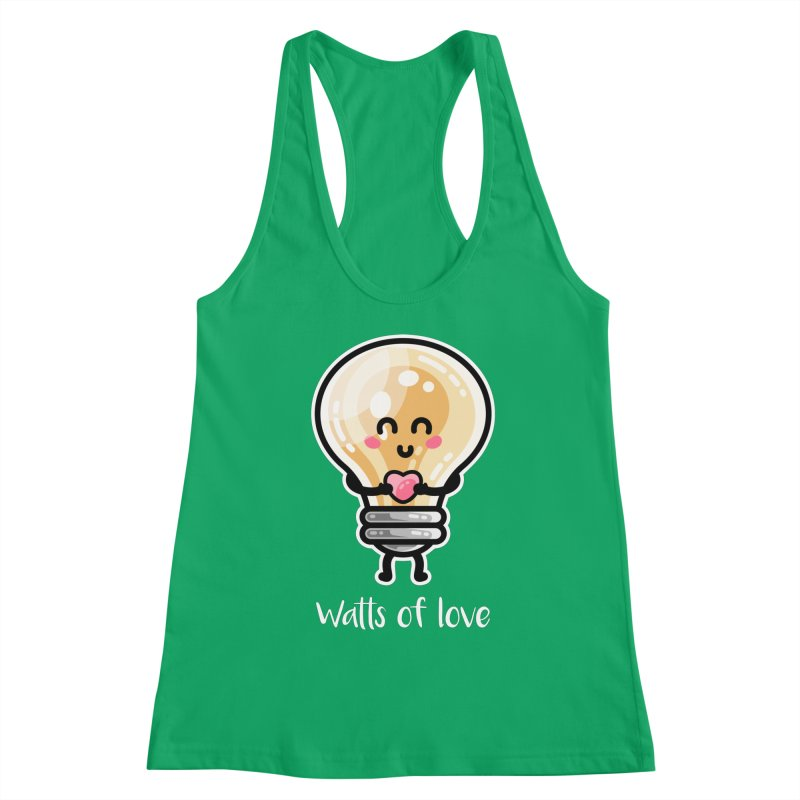Cute Watts Of Love Pun Women's Tank by Flaming Imp's Artist Shop