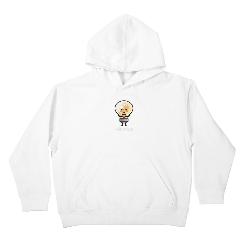 Cute Watts Of Love Pun Kids Pullover Hoody by Flaming Imp's Artist Shop