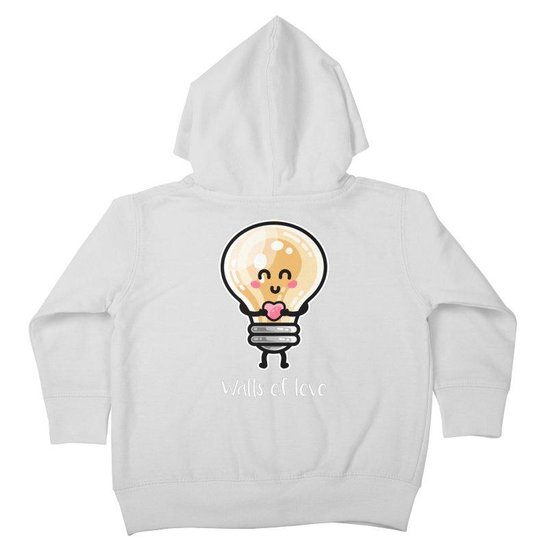 Cute Watts Of Love Pun Kids Toddler Zip-Up Hoody by Flaming Imp's Artist Shop