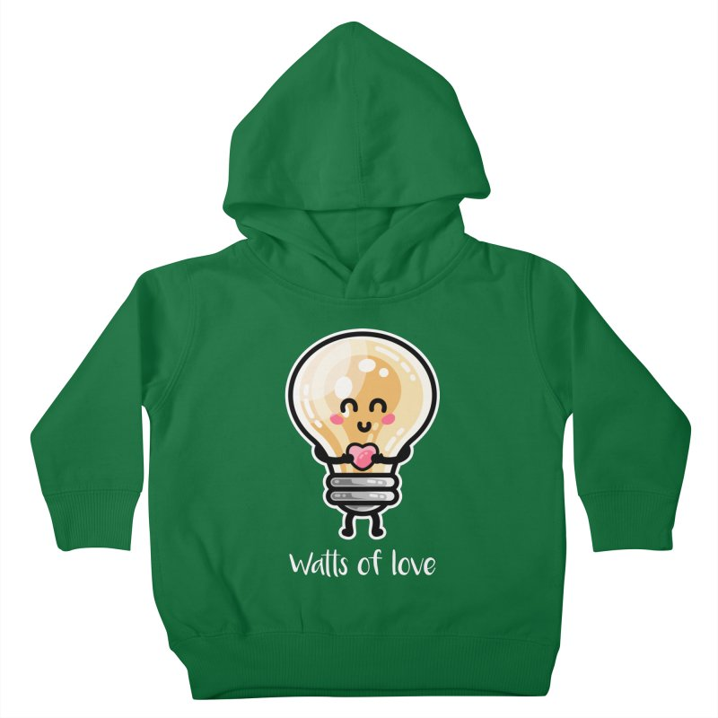 Cute Watts Of Love Pun Kids Toddler Pullover Hoody by Flaming Imp's Artist Shop