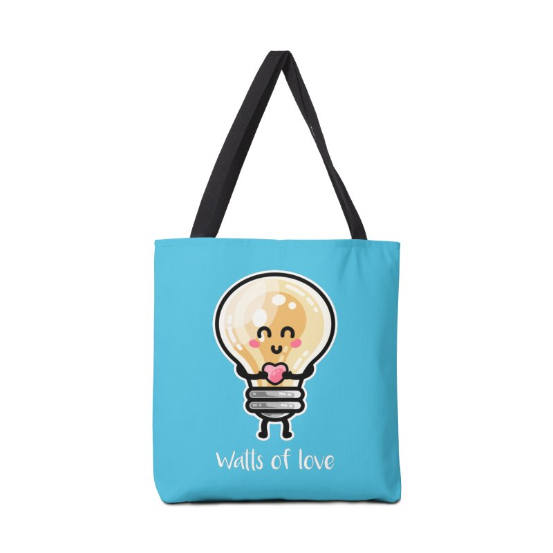 Cute Watts Of Love Pun Accessories Bag by Flaming Imp's Artist Shop