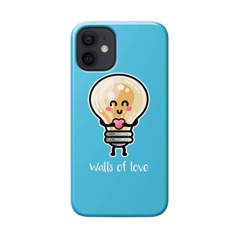 Cute Watts Of Love Pun Masks + Accessories Phone Case by Flaming Imp's Artist Shop