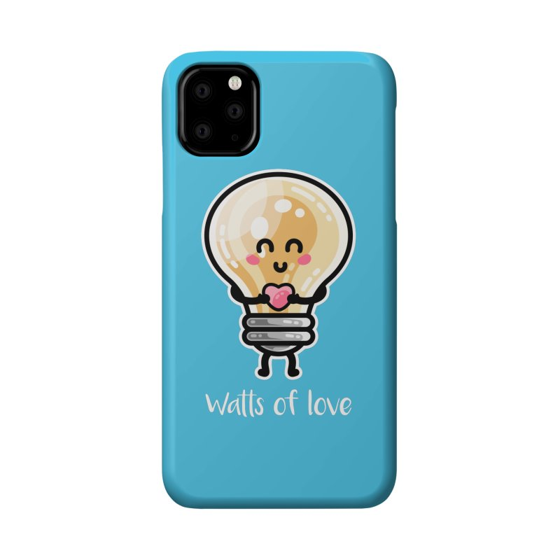 Cute Watts Of Love Pun Accessories Phone Case by Flaming Imp's Artist Shop