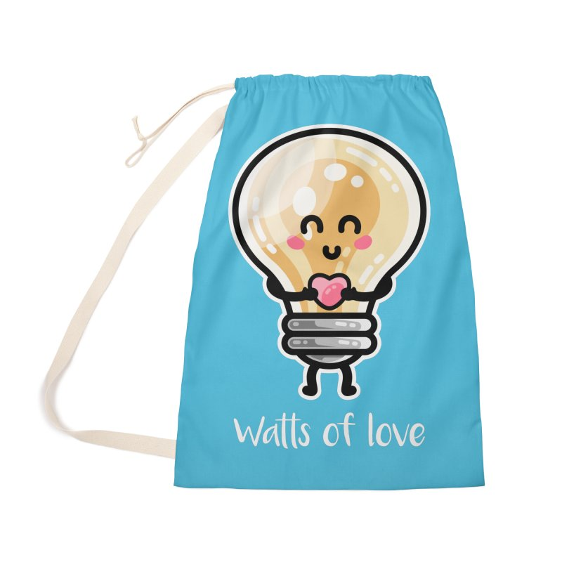 Cute Watts Of Love Pun Masks + Accessories Bag by Flaming Imp's Artist Shop