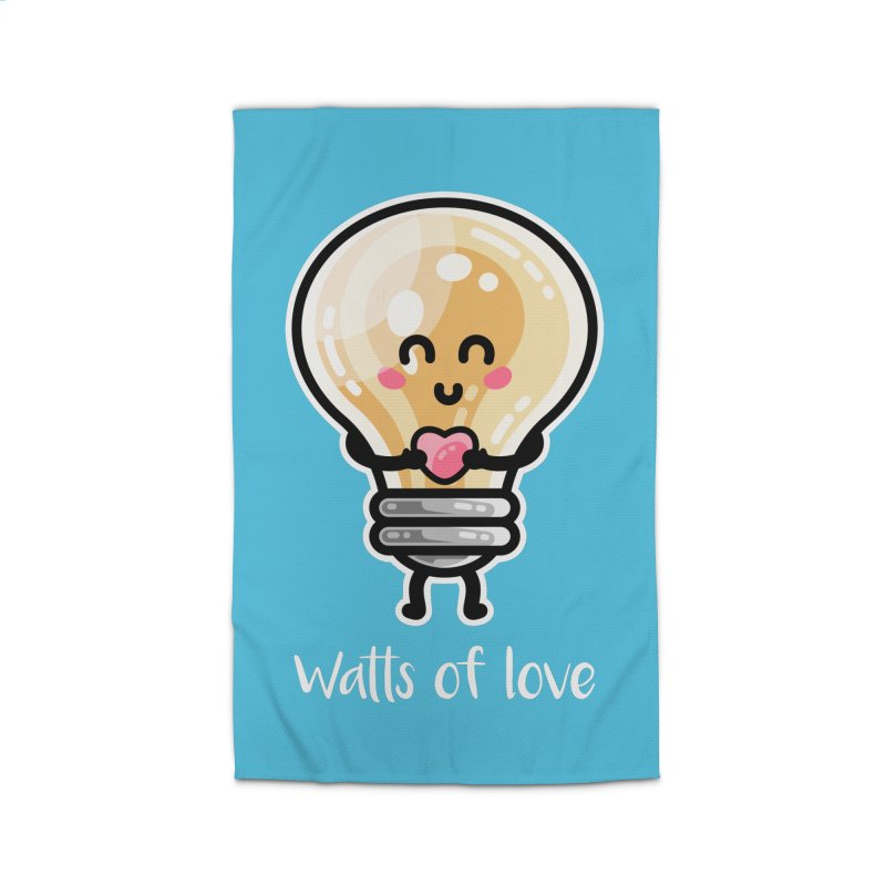 Cute Watts Of Love Pun Home Rug by Flaming Imp's Artist Shop