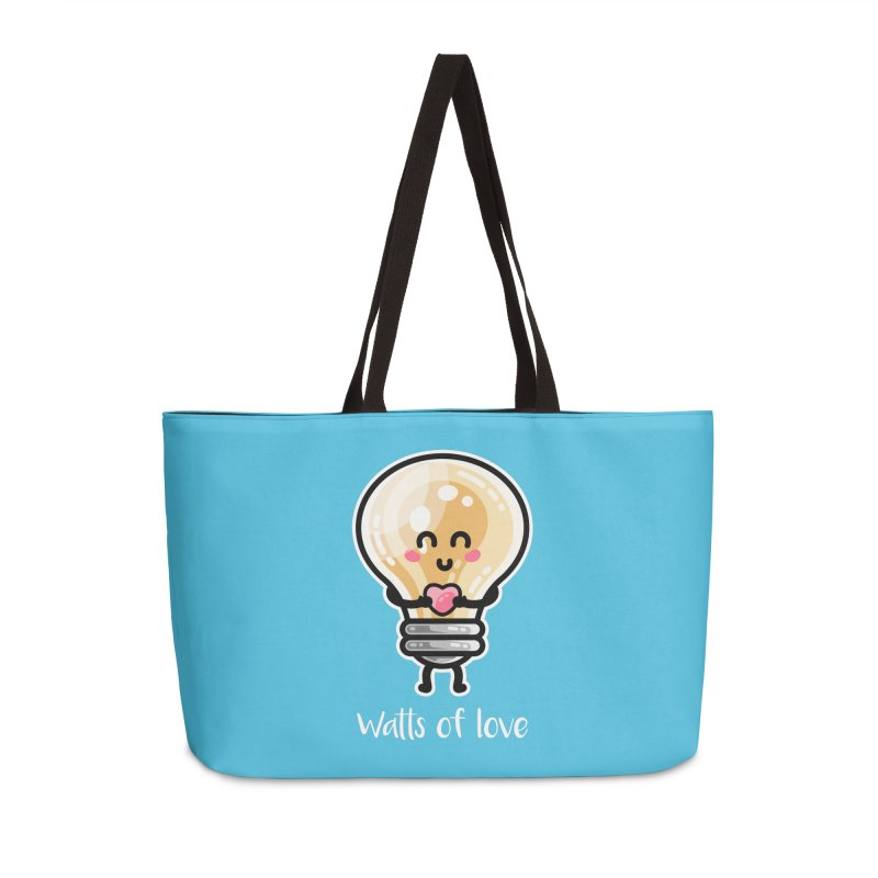 Cute Watts Of Love Pun Accessories Weekender Bag Bag by Flaming Imp's Artist Shop