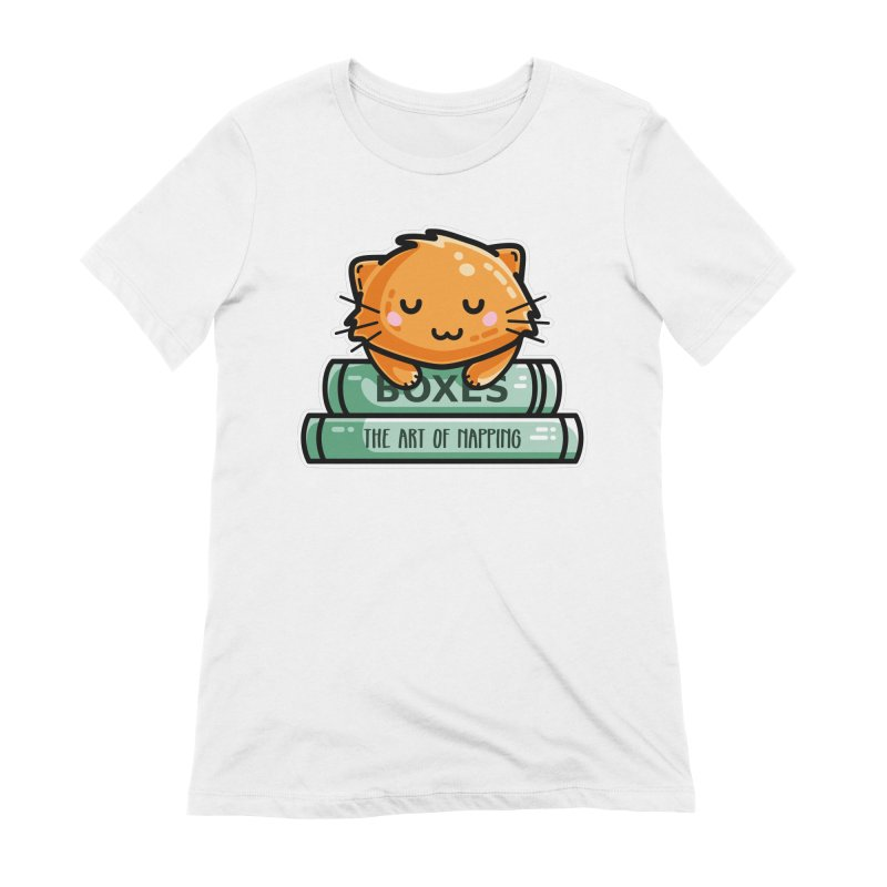 Cute Ginger Cat With Books Women's Extra Soft T-Shirt by Flaming Imp's Artist Shop