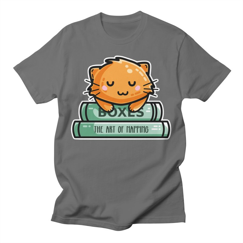 Cute Ginger Cat With Books Unisex T-Shirt by Flaming Imp's Artist Shop