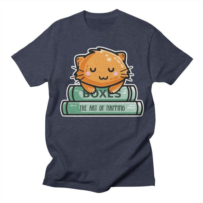 Cute Ginger Cat With Books Women's Regular Unisex T-Shirt by Flaming Imp's Artist Shop