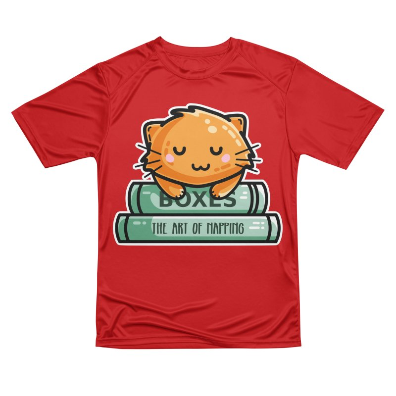 Cute Ginger Cat With Books Women's Performance Unisex T-Shirt by Flaming Imp's Artist Shop