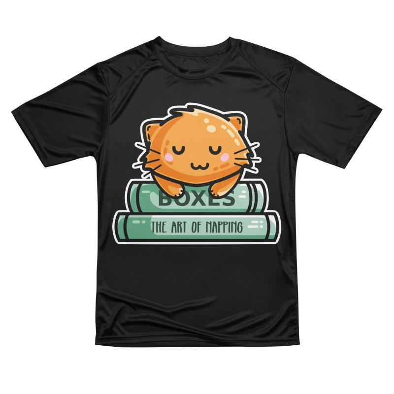 Cute Ginger Cat With Books Men's Performance T-Shirt by Flaming Imp's Artist Shop